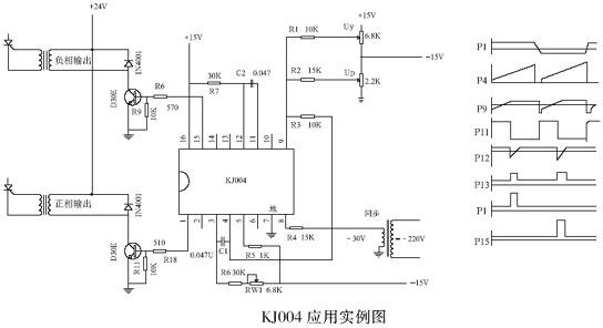 kj004可控硅移相电路